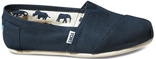 TOMS Womens Classics Navy Canvas 001001B07-NVY Womens 7