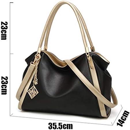 YUI Sac à Main Hit Color Satchel pour Les Femmes, Sac Crossbody épaule, European and American Simplicity Handle Bag