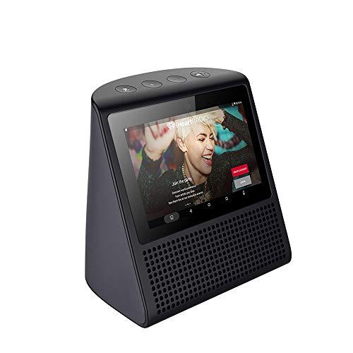Zettaly Base 5 - Internet Radio Smart Screen Alarm Clock with AlexaBluetooth Touchable Speaker.Black