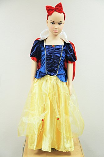 Jason Party snow white dress with red mantle and headband 4-6 Years (Jason Fancy Dress)