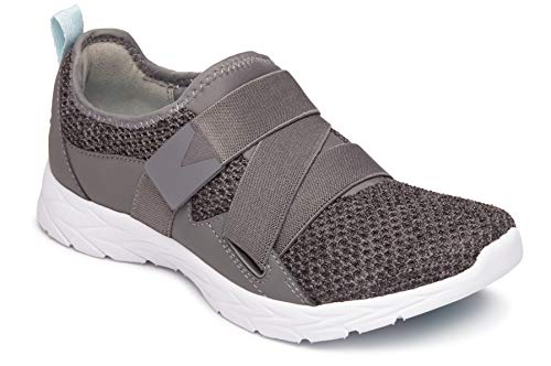 Vionic Women's Brisk Aimmy Walking Shoes - Ladies Athleisure Shoe with Concealed Orthotic Arch Support Charcoal 7 M US