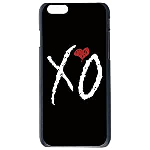 Fashion The Weeknd XO Red Heart Plastic Hard Case Cover Back Skin Protector For Apple iPhone 6G Plus 5.5 by Alexism Size166