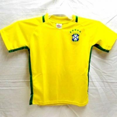帝国主義誰インポート?代引可?子供用 K012 ブラジル DANI ALVES*2 ダニエウ?アウヴェス 17 黄 ゲームシャツ パンツ付
