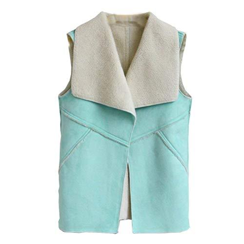 Jacket Outerwear Manteau Boutonnage Coat Automne Confortable Trendy Sans Grün Patte Femme Gilet Manches Décontracté Dame Casual Battercake De Printemps TwI8axZqRS