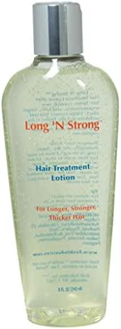 Want Longer Hair? Want Stronger Hair? Grow Hair Fast! Buy Long 'N Strong Treatment Lotion - Longer, Thicker Hair! - Split End Repair - Split end treatment 240 ML