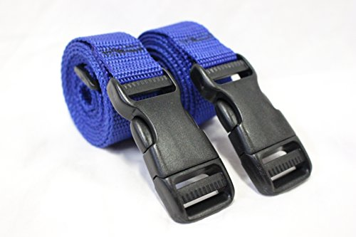 [Molle Backpack Accessory Straps - Quick Release Buckle (Blue (Heavy Duty Polypro))] (Quick Release Slip)