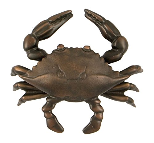 Blue Crab Door Knocker - Oiled Bronze (Standard Size) (Bronze Knocker)