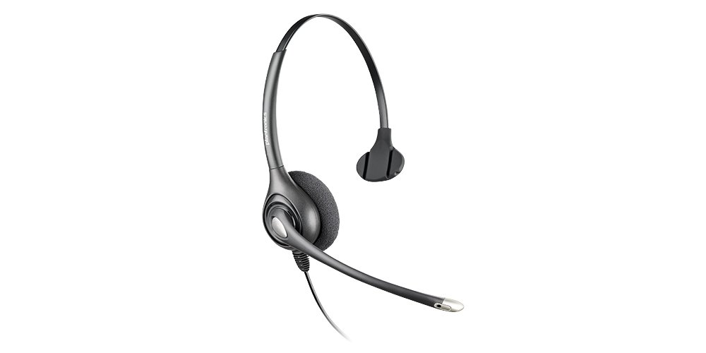 Plantronics SupraPlus Wideband Noise-Canceling Headset with Plantronics Vista M22 Amplifier and A10 Cord (Bundle of 3 Items) by Plantronics