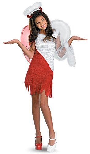Morris Costumes HEAVENLY DEVIL CHILD, red/white, (White She Devil Costume)