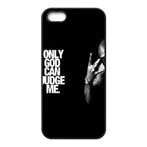 iPhone 5 5s Cell Phone Case Black Tupac Only God Can Judge Me OJ408093