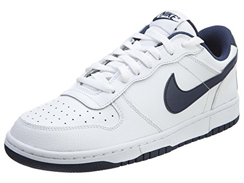 Nike Mens Grote Laag Basketbalschoenen Wit / Midnight Navy