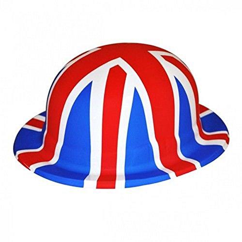 Henbrandt Union Jack Novelty Plastic Bowler Hat (One Size) - Jack Union Costume