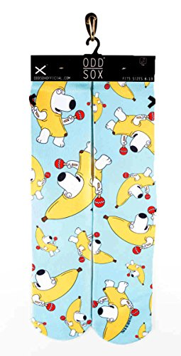 Odd Sox Men's Cartoon Collection Socks Fits Size 6 - 13 Family Guy PBJ Time ()