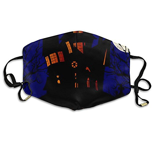 Girls Face Mask Anti-Dust Respirator Gift Happy Halloween On The Night Moon and Castle.jpg -