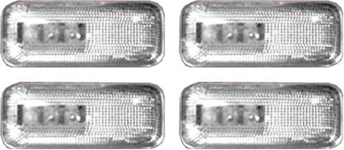 Recon 264131CL LED Fender Lights 2002-2007 Dodge RAM Dually Clear Lens with Chrome Trim 4-Piece Set