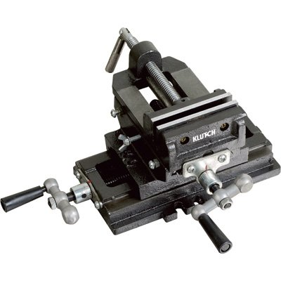 Klutch Cross Slide Drill Press Vise - 4in. Jaw Length