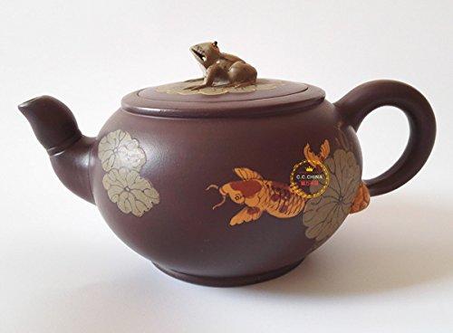 Chinese Yixing Pure Clay Handmade Zisha Teapot Zini Tea Pot 270cc Oonlight Over the Lotus Pond