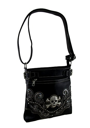 Rhinestone Skull Concealed Carry Crossbody Purse