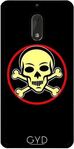 Funda de silicona para Nokia 6 - Huesos Del Cráneo by hera56