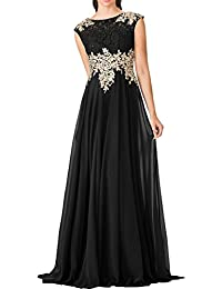 MILANO BRIDE Stunning Long Modest Prom Evening Dress Applique Chiffon A-line