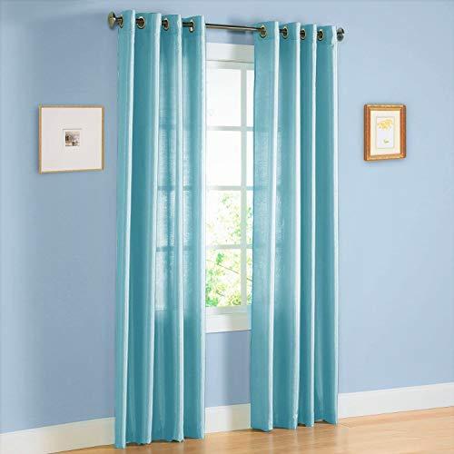 Sapphire Home 2 Panel Faux Silk Solid Curtain Drapes w/Bronze Grommet 84