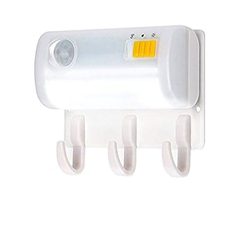 AVEKI - Luz nocturna LED con sensor de movimiento, funciona con pilas, portátil,