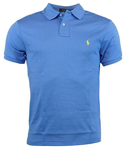 Polo Ralph Lauren Mens Custom Fit Interlock Polo Shirt - M - Greenwich Blue