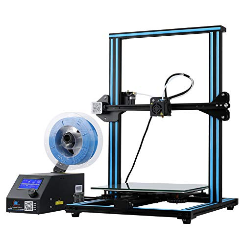 Official Creality Open Source CR-10 3D Printer All Metal Frame 12x12x15.5 Inch Build Volume and Heated Bed Includes Glass Bed