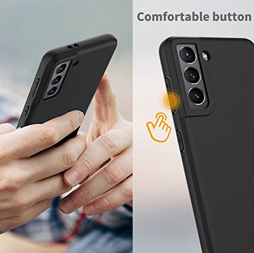 EasyAcc Slim Case for Samsung Galaxy S21 5G, Matte Black Thin TPU Phone Cases Finish Profile Soft Back Protective Cover