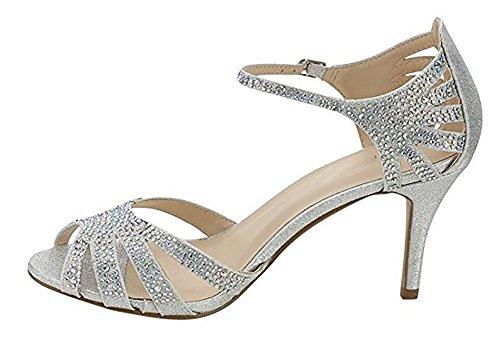 Lowkitten r By Shoe On Classy Women Dress Heel rhinestone Shoe Party Pumps Fab weedding Silver classic Slip pointed Women's Shoes Mve wfngXqZRAq