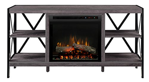 Dimplex Electric Fireplace, Media Console, TV Stand and Entertainment Center with Multiple Storage Areas and Natural Log Set in Autumn Bronze Finish - Ramona #GDS23L8-1974AU (Chimenea Bronze)