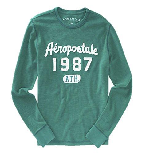 Aeropostale Mens Long Sleeve Thermal Shirt X-Large Green ()