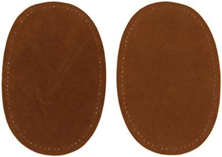 Hellery デニムパッチ アイロン接着 補修布 ひざあて ジーンズパッチ 楕円形 2個セット