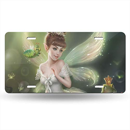 Homlife Personalized License Plate, Fairy Princess Aluminum Novelty USA Car Tag, 6 X 12 Inches for Home Wall Art Decor ()