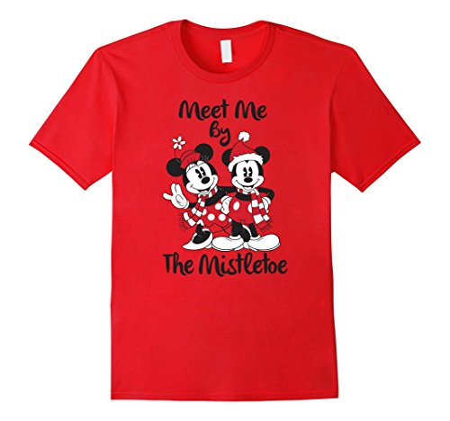 Mens Disney Mickey Mouse Mistletoe Christmas T Shirt