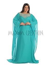 BEAUTIFUL DUBAI LADIES KAFTAN JALABIYA MAGHRIBI DRESS FOR WOMEN BY MAXIM CREATION