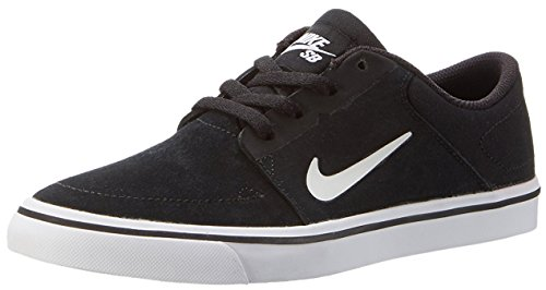 Nike SB Portmore Youth Skate Skate Shoes Black White - 5 (Nike Shoes Youth Sb)