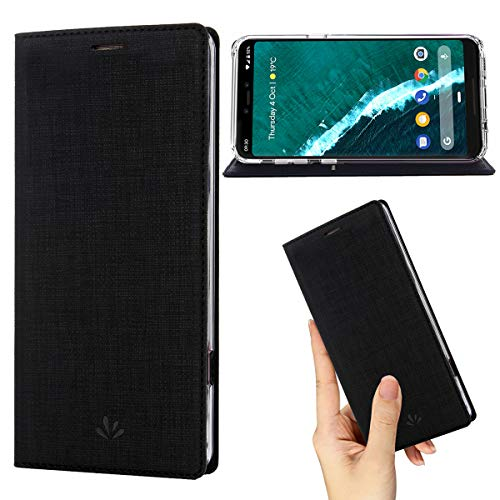 Premium Leather Fitted Case - Google Pixel 3 Case,Premium Flip Leather Wallet Case Stand Kickstand Card Slot Magnetic Closure Full Body Protective Cover Clear TPU Bumper Thin Case for Pixel 3 (Black, Pixel 3)