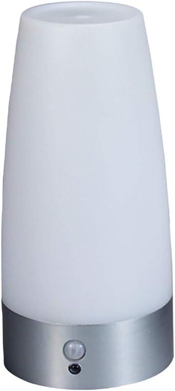 Lámpara De Mesita De Noche,Sensor De Movimiento Led Inalámbrico Luz De Noche Del Dormitorio Retro Lámpara De Mesa Led Con Pilas Luz De Noche: Amazon.es: Iluminación