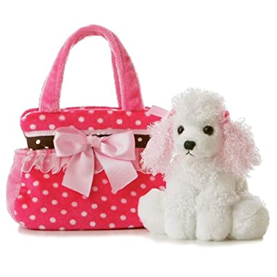 "Aurora - Pet Carrier - 8"" Fancy Pink Polka Dot: Toys & Games"