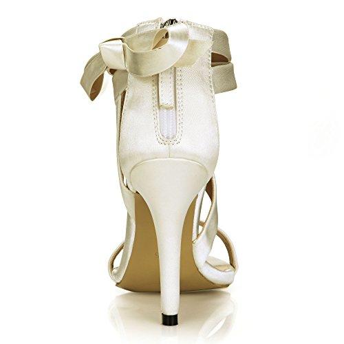 noble femme crème haut de dîner chaussures mariage ruban les talon Nouvelles chaussures le femmes de Opal Sandales dans 5tqPO4
