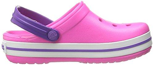 crocs Unisex-Kinder Crocband Kids Clogs Pink (Neon Magenta/Neon Purple)