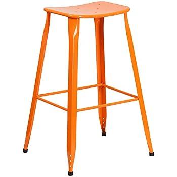 Amazon Com Flash Furniture 4 Pk 24 High Distressed