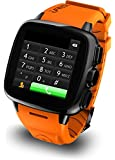 "Intex IRist - WatchPhone Android (pantalla 1.56"", cámara 5 Mp, 4 GB, Dual-Core 1.2 GHz, 512 MB RAM), naranja"