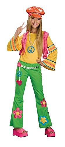 Tween Flower Power Costume (Hippie Halloween Costumes For Tweens)
