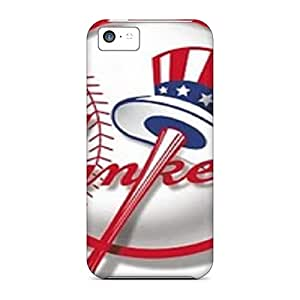 FlowerCase Case Cover Protector Specially Made For Iphone 5c Yankees Logo