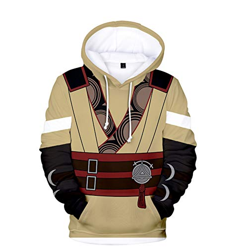 Xiao Maomi Heroes Robin Daraen Cosplay Costume Game Hoodie Adult 3D Pinrted Sweatshirt Shirt for Halloween (XL, 10) (Top 10 Best Anime Swordsman)