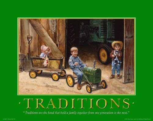 (John Deere Tractor Motivational Poster Art Print 11x14 Toys Charles Freitag Wall Decor Pictures)