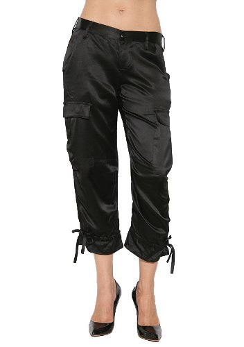 Amazon.com: Joie Women's Silk Cargo Capri Pant in Black Size 27 ...