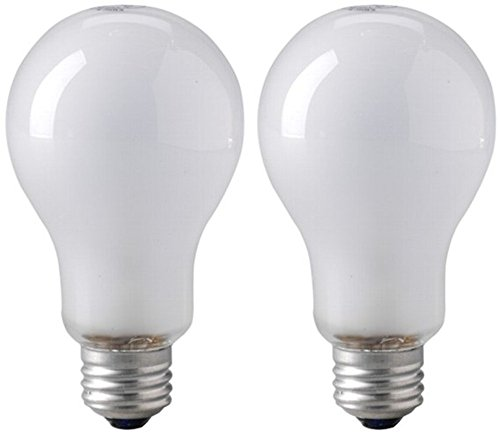 EiKO BBA Model BBA Inside Frosted Light Bulb (Pack of 2), 8500 Lumens, 120 Voltage Rating, 250 Watts, 2.08 Amps, Medium Screw (E26) Base, A-21 Bulb Type, C-9 Filament, 4.77